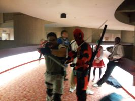 Chris and deadpool, Mr serious and Mr insane. by Experiment07