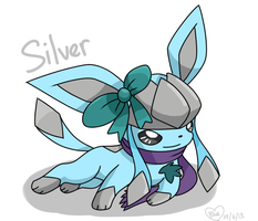 Request: OC: Silver the Glaceon by Bluekiss131