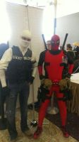 Joshua Graham and Deadpool! by TSUKUNE-A0NO