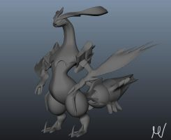 White Kyurem 3D - Without textures by Onilink1993