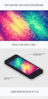 Modern High Contrast Multicolor Polygon Background by mrsbadbugs