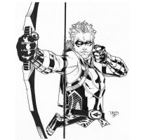 Green Arrow inks by JosephLSilver