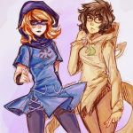 Roxy and Jane by lantrat