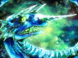 Water Dragon by MistyTang