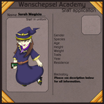 (NPC) W.Academy Application - Sarah Magica by Dianamond