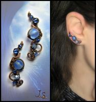 Ear vines Sea waves by JSjewelry