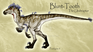 Blunt Tooth raptor by pookyhorse
