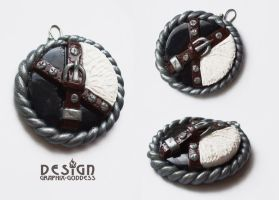 SQUALL LEONHART FINAL FANTASY VIII CLAY PENDANT by Graphix-Goddess