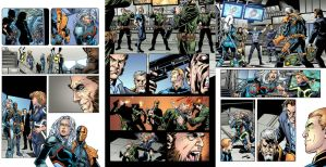 Deathstroke pages by AlonsoEspinoza