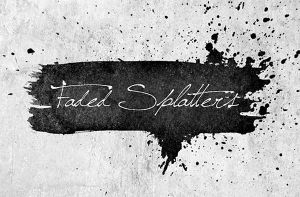 Free Ink Splatters Brushes by Designslots