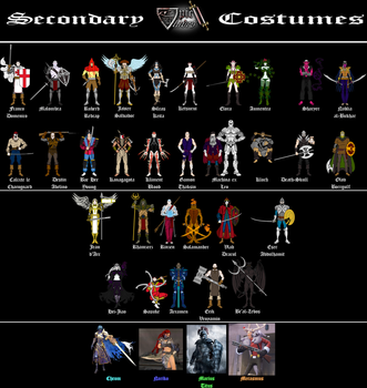 Epic Blades II secondary costumes by sprite-genius