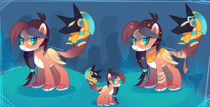 MLP Anubis Sphinx Adopt by zombie