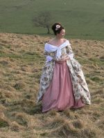 cathy ,the 18thc polonaise gown by Hathaways