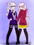 Soul Eater Contest Entry- Avalee and Eurydice by Ask-TheDrakon
