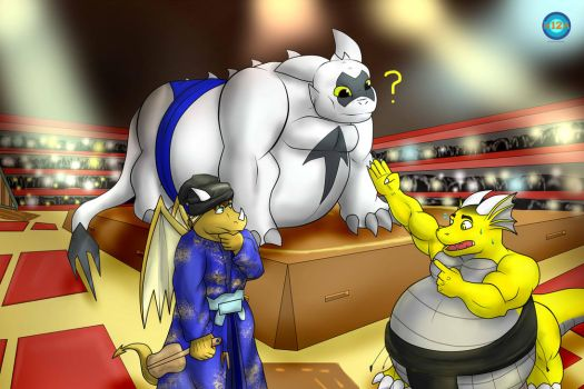 Com - In the arena of fighting Sumo by B12A