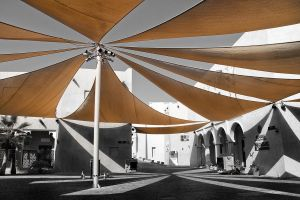 Qatar - Katara - Cultural Village 03 - Shaded Area by GiardQatar