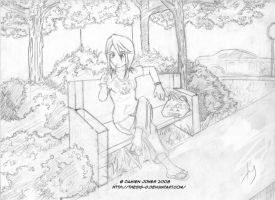 Rukia Waiting WIP by Thesis-D