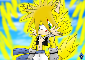 :Fusion: Goku the Cat-Wolf by Xx-LordVincent-xX