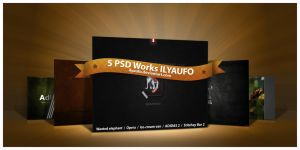 5 PSD Works ILYAUFO by ilyaufo