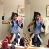 Legend of Korra Cosplay Selfie by CosplayInABox