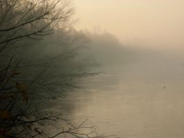 River and fog ... no. 4 by Gumista