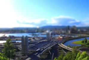 Tilt shift Oslo by mariusjellum