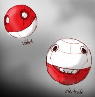 Voltorb and Electrode by RtRadke
