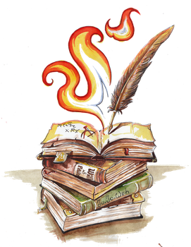Folios and Fire-Magic by Jujoweh