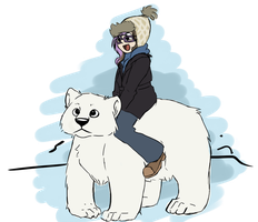 Imma riding a Polar Bear by TheSketchADoodle