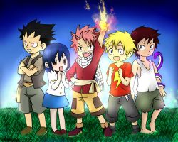 :collab: Young Dragon Slayers by UndeadCrime