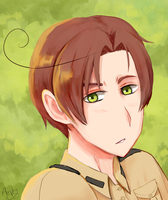 Romano headshot painting by Amphany