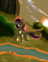 Flying Fluttershy by AFL316