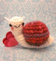 Special Edition Wee Lil Love Snail Amigurumi by Spudsstitches