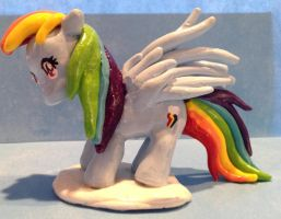 My Little Pony Rainbow Dash Sculpture by IcyPanther1
