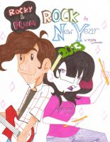 Rocky and Plum ROCK the New Year Cover Page by WeaselwithDynamite