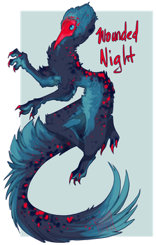 Wounded Night|Closed by Spiritmydog-Adopts