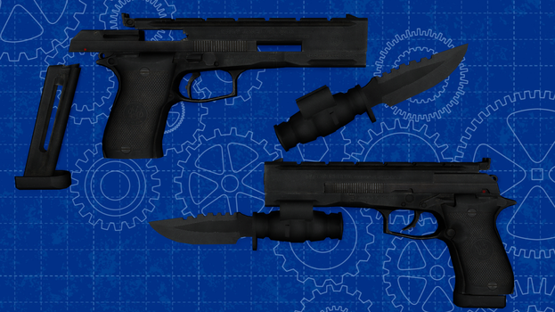 [MMD] Beretta 87 for DL by AbyssLeo