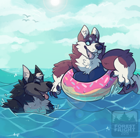 splish splash by ForestFright