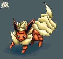 Pokebot Flareon by SleepyHeadKL