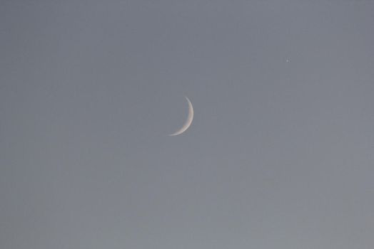 Crescent Moon And Saturn by 1DAKOTA-SMITH1
