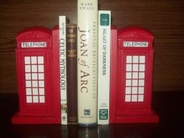 Phone Booth Bookends by Wolfmoot