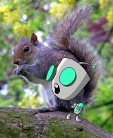 Gir The Squirrel by InvaderSponge