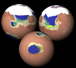 Cavorite Mars Globe View (Other Habitable Areas) by IainFluff