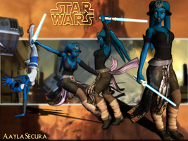Aayla Secura Wallpaper by Zairyo