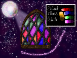 Stained-glass GIMP Palette by ShawneeDawn