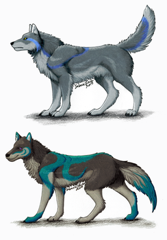 Tearstain and Willow - Character Revamp by SabarielLocien
