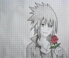 Sasuke rose sketch by ViivaVanity