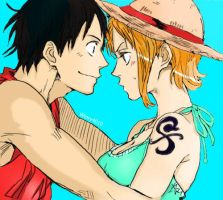 Luffy x Nami :3 by Winry4010