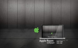 MBP Apple Room Wallpaper by Martz90