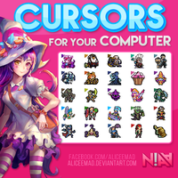 Cursors (.CUR) - League of Legends by AliceeMad